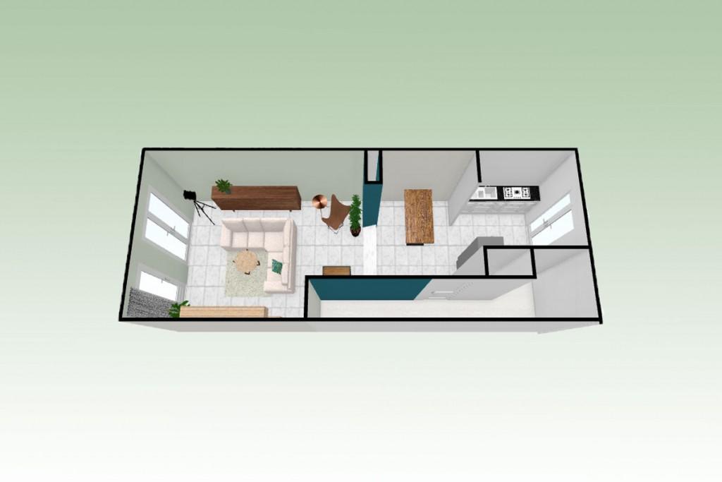 plattegrond woonkamer groot