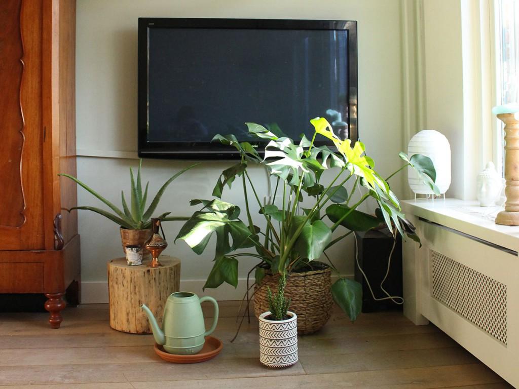 tv hangend aan de muur