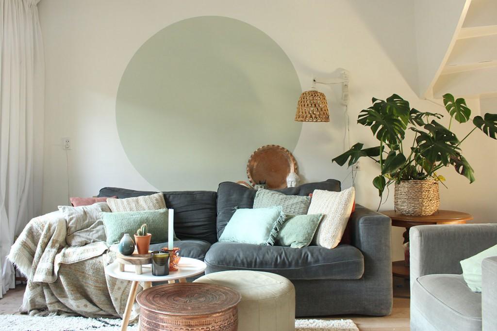 cirkel op de muur