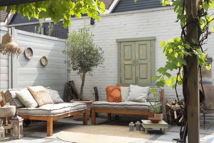 mediteraanse tuin huis vol karakter