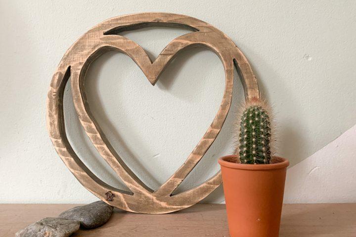 houten wandhanger zelfgemaakt
